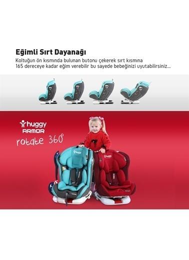 Huggy Huggy Armor Rotate360° Dönebilen 0-36 kg İsofix Yatarlı Oto Koltuğu Kırmızı
